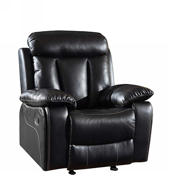 Global United 9361 - Leather Air Chair in Black color.