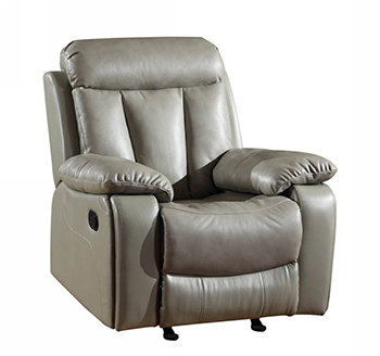 Global United 9361 - Leather Air Chair in Gray color.
