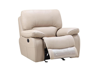 Global United 9389 - Leather Gel Chair in Beige color.