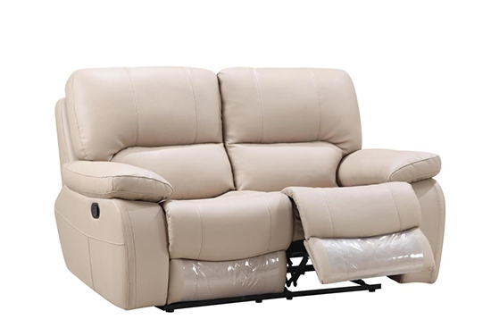 Global United 9389 - Leather Gel Loveseat in Beige color.
