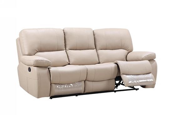 Global United 9389 - Leather Gel Sofa in Beige color.