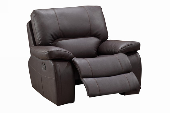 Global United 9389 - Leather Gel Chair in Brown color.