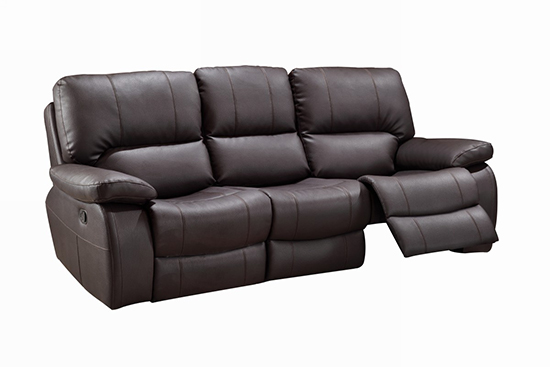 Global United 9389 - Leather Gel Sofa in Brown color.