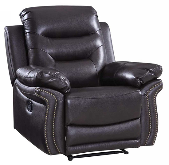 Global United 9392 - Leather Air Chair in Brown color.