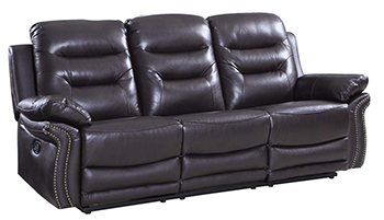 Global United 9392 - Leather Air Sofa in Brown color.
