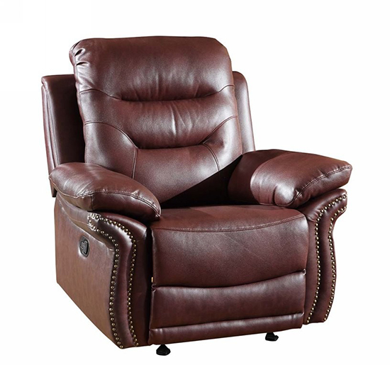 Global United 9392 - Leather Air Chair in Burgundy color.