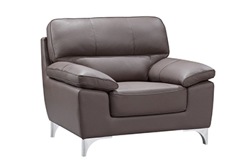 Global United 9436 - Leather Gel Chair in Brown color.