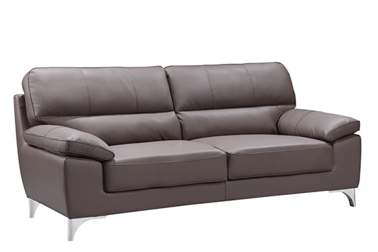 Global United 9436 - Leather Gel Sofa in Brown color.