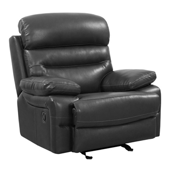 Global United Furniture 9442 Gray Leather Air Chair.