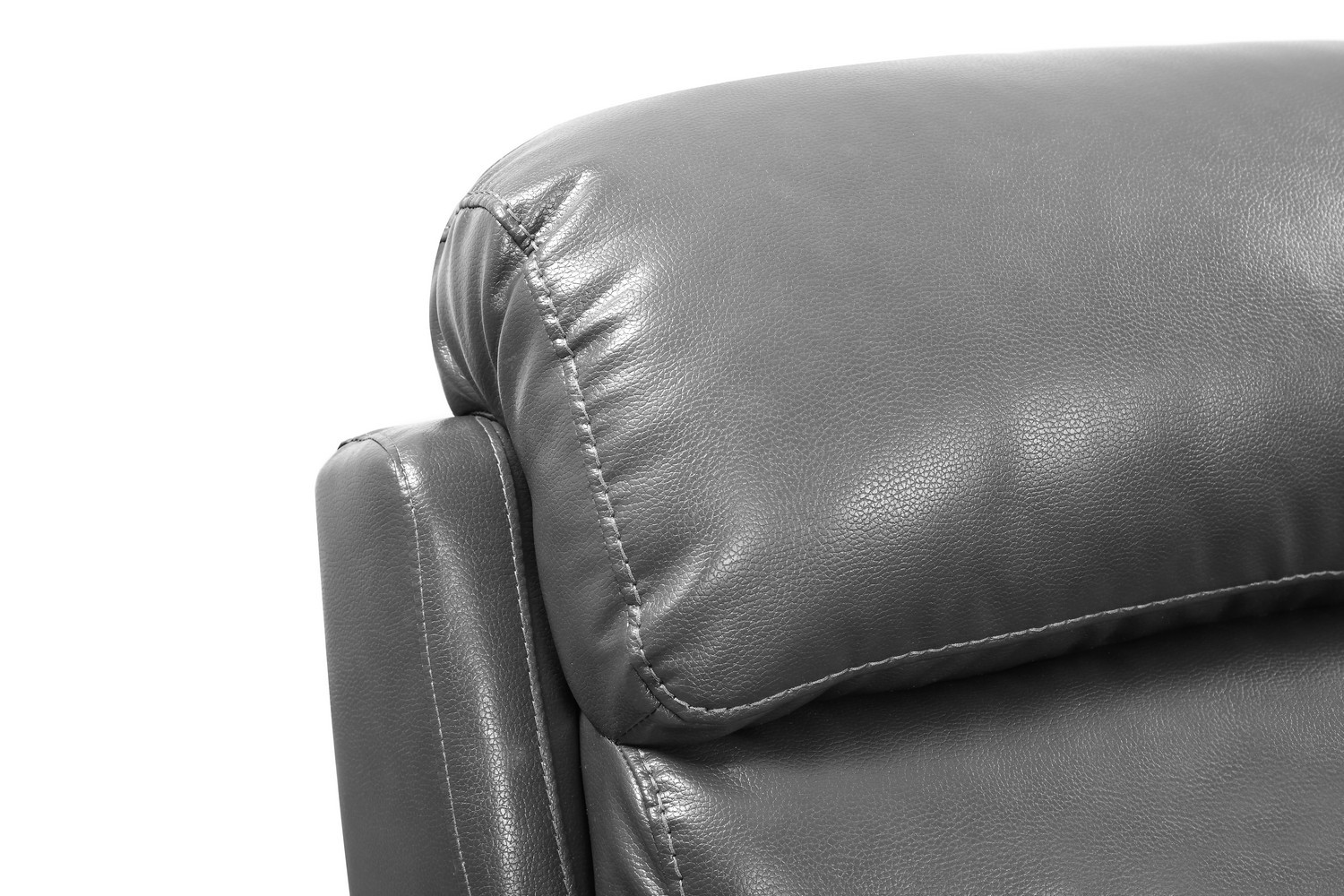 Global United Furniture 9442 Gray Leather Air 2pc Sofa And