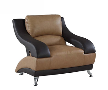 Global United 982 - Leather Match Chair in Two-Tone color.