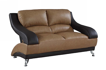 Global United 982 - Leather Match Loveseat in Two-Tone color.