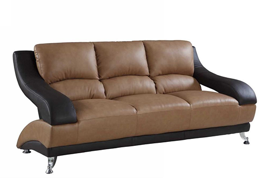 Global United 982 - Leather Match Sofa in Two-Tone color.