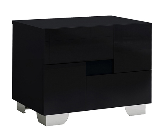 Global United Aria - Nightstand in Black Color.