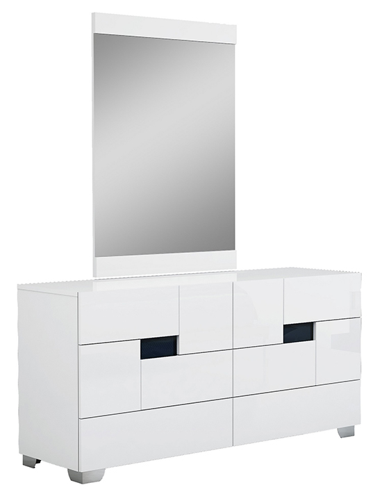 Global United Aria - Dresser with Mirror in White Color.