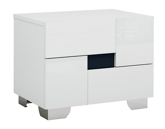 Global United Aria - Nightstand in White Color.