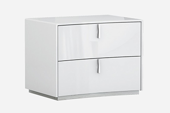 Global United Bellagio - Nightstand in White Color.