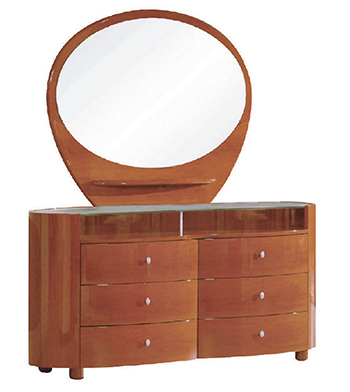 Global United Cosmo - Dresser with Mirror in Cherry Color.