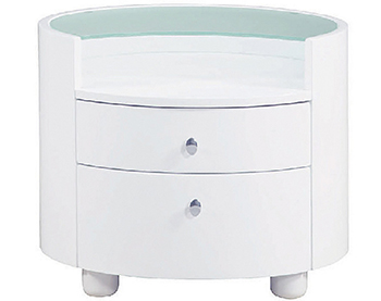 Global United Cosmo - Nightstand in White Color.