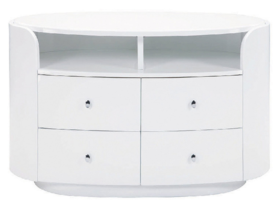 Global United Cosmo - TV Entertainment Unit in White Color.