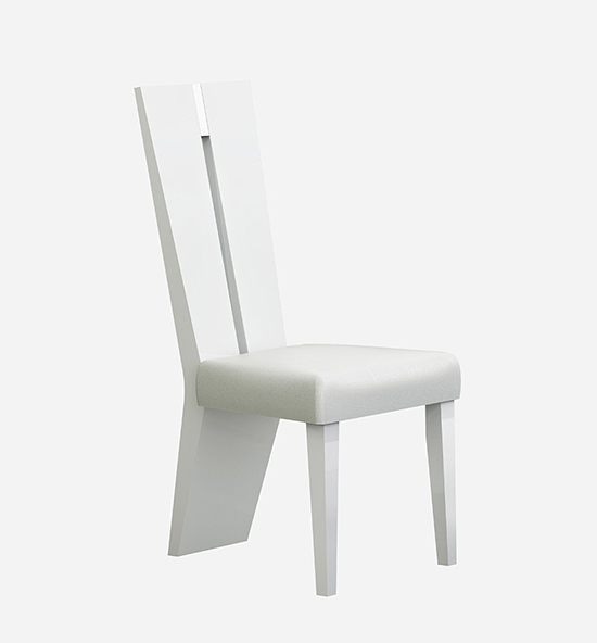 Global United D313 - Dining Chair in White Color.