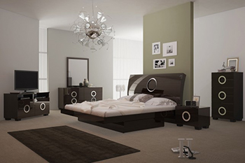 Global United Monte Carlo - 5PC Bedroom Set in Wenge Color.