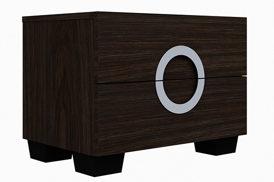 Global United Monte Carlo - Nightstand in Wenge Color.