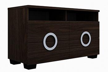 Global United Monte Carlo - TV Entertainment Unit in Wenge Color.