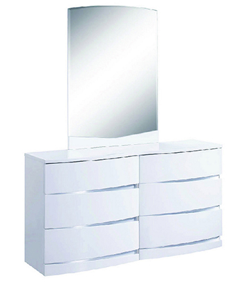 Global United Wynn - Dresser with Mirror in White Color.