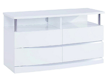 Global United Wynn - TV Entertainment Unit in White Color.
