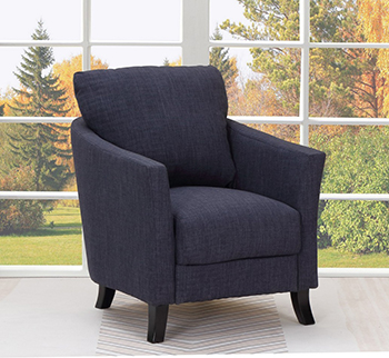 Global United A12 - Polyester Accent Chair in Navy Color.
