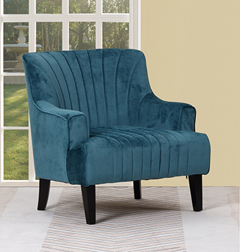 Global United A32 - Polyester Accent Chair in Blue Color.
