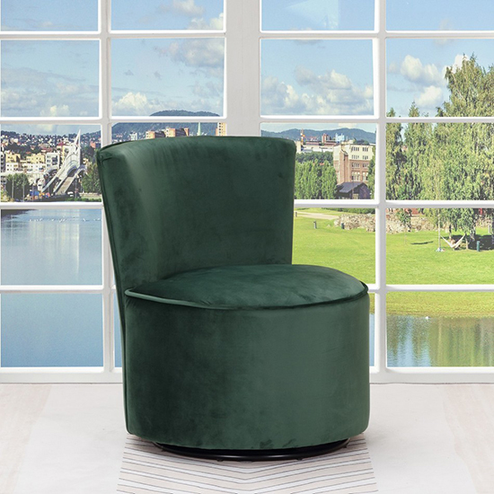 Global United A41 - Polyester Accent Chair in Green Color.