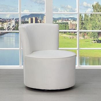 Global United A41 - Polyester Accent Chair in White Color.