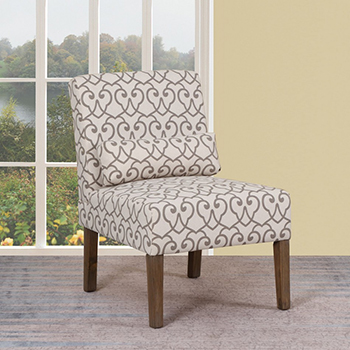 Global United A81 - Polyester Accent Chair in Beige Color.