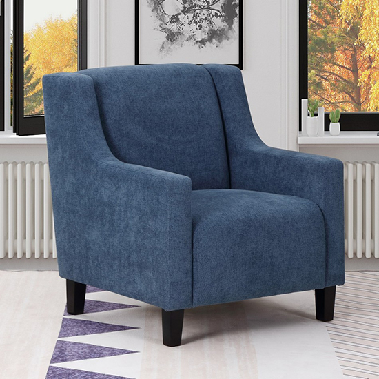 Global United A83 - Polyester Accent Chair in Blue Color.
