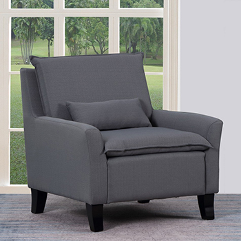 Global United A87 - Polyester Accent Chair in Gray Color.