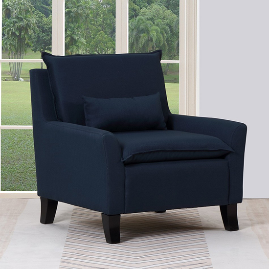 Global United A87 - Polyester Accent Chair in Navy Color.