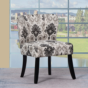 Global United A92 - Polyester Accent Chair in Beige Color.
