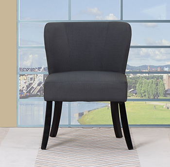 Global United A92 - Polyester Accent Chair in Dark Gray Color.