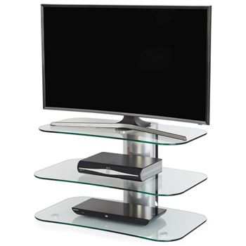 "Off The Wall Arc 800 TV Stand up to 55"" TVs in silver finish. off-the-wall-arc-800"