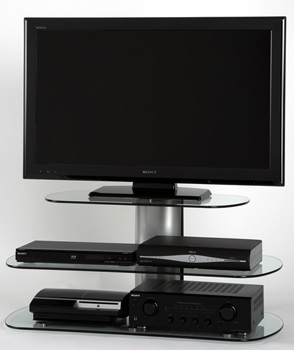 "Off The Wall Skyline 1000 TV Stand up to 52"" TVs in silver finish. off-the-wall-skyline-1000-silver"