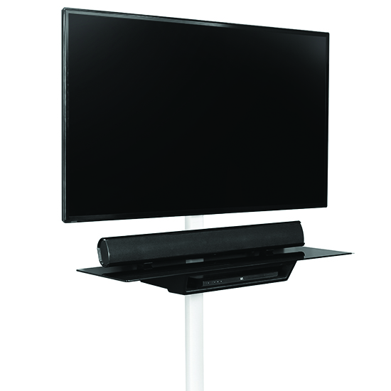OMNIMOUNT OWS60 1-Shelf Wall System in Black color.  OmniMount-OWS60