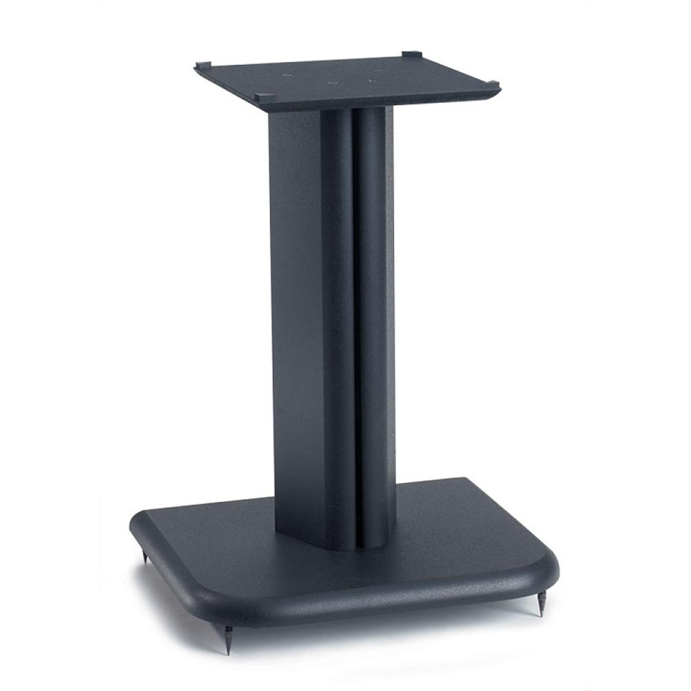 sanus bf16 basic series 16 tall for medium to large bookshelf speakers in black finish. Black Bedroom Furniture Sets. Home Design Ideas