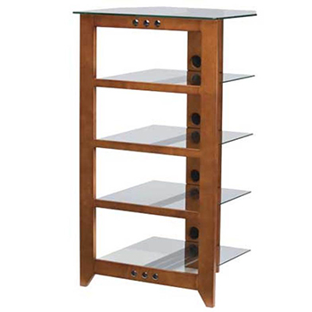 "SANUS NFA245 Natural Series 45"" Tall five-shelf Audio Stand in Mocha finish. Copy SANUS-NFA245-C"