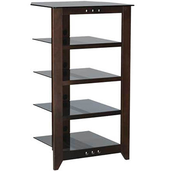 "SANUS NFA245 Natural Series 45"" Tall five-shelf Audio Stand in Black finish. Copy SANUS-NFA245-M"