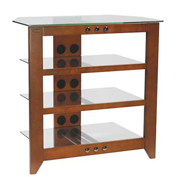 "SANUS NFAV230 Natural Series 30"" Tall Four-Shelf Audio Stand in Mocha finish. Copy SANUS-NFAV230-C"