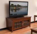 "Tech Craft CRE48 TV Stand up to 52"" TVs in Walnut finish. Tech-Craft-CRE48"