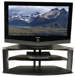 Tech Craft FIT42 Black TV Stand up to 42