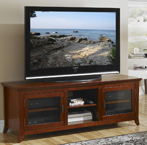Tech Craft PAL62 Walnut Credenza TV Stand up to 60